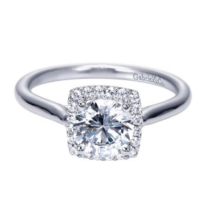 Gabriel 14 Karat Contemporary Engagement Ring ER7818W44JJ