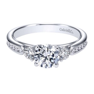 Gabriel 14 Karat Contemporary Engagement Ring ER7449W44JJ