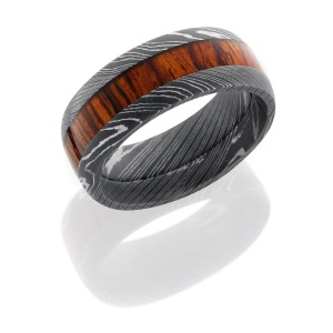 Lashbrook D9D14/NATCOCO ACID Hard Wood Wedding Ring or Band
