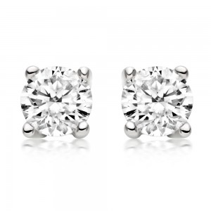 "Diamond Stud Earrings - ""Value"" 0.25 - 2.00 Carat Total Weight"