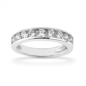Diamond Channel Set Band 18 Karat Taryn Collection TQD B-0425