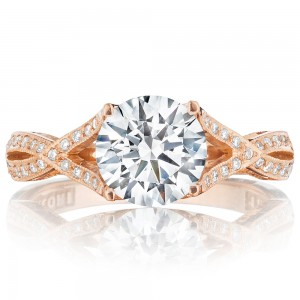 Tacori 2565MDRD75PK 18 Karat Pretty In Pink Engagement Ring