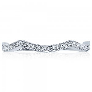 2565B-1 Platinum Tacori Ribbon Diamond Wedding Ring
