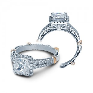 Verragio Parisian-DL107P Platinum Engagement Ring