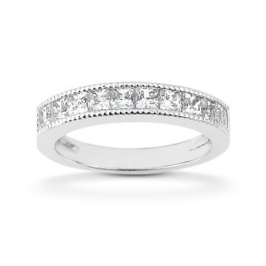 Diamond Channel Set Band 18 Karat Taryn Collection TQD B-7525