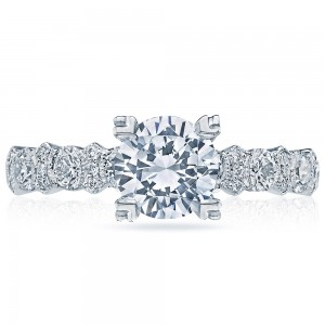 HT2519A12X Platinum Tacori Classic Crescent Engagement Ring