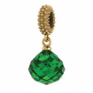 JLo Collection Endless Jewelry Emerald Mysterious Drop 18k Gold Plated Charm 3801-5