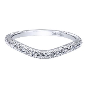 Gabriel 14 Karat Contemporary Wedding Band WB10144W44JJ