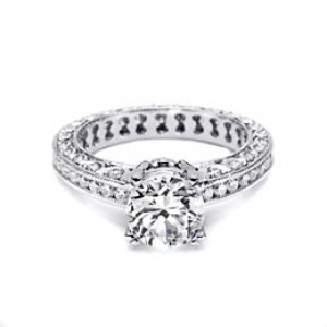 Tacori 18 Karat Crescent Engagement Ring HT2326SOL