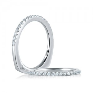 A.JAFFE Platinum Diamond Wedding Ring MRS375 / 26