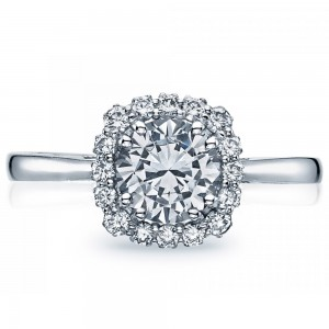Tacori 55-2CU65 18 Karat Full Bloom Engagement Ring