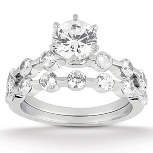 Taryn Collection Platinum Diamond Engagement Ring TQD A-0751