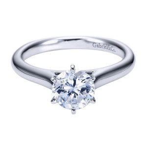 Gabriel 14 Karat Contemporary Engagement Ring ER6623W4JJJ