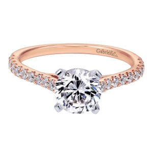 Gabriel 14 Karat Contemporary Engagement Ring ER7227T44JJ