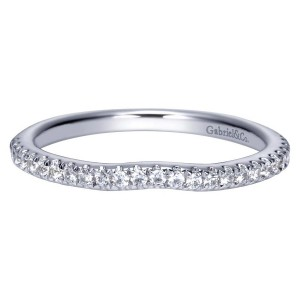 Gabriel 14 Karat Contemporary Wedding Band WB8152W44JJ