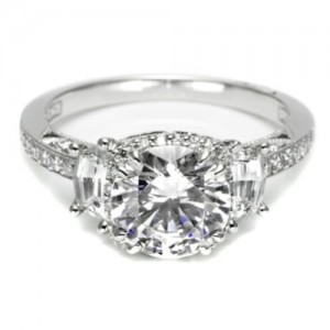 Tacori Dantela Platinum Engagement Ring 2628RDP