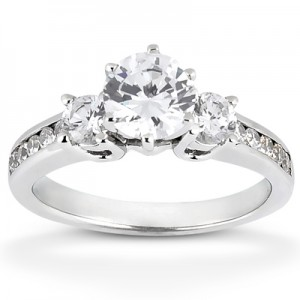 Taryn Collection Platinum Diamond Engagement Ring TQD 2336