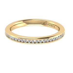 Gabriel 14 Karat Contemporary Wedding Band WB7449Y44JJ