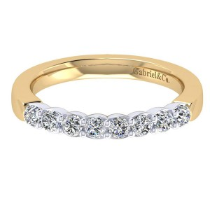 Gabriel 14 Karat Contemporary Wedding Band WB7849M44JJ