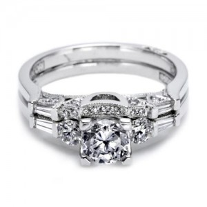 Tacori 2593B Platinum Wedding Band