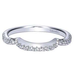 Gabriel 14 Karat Contemporary Wedding Band WB8667W44JJ