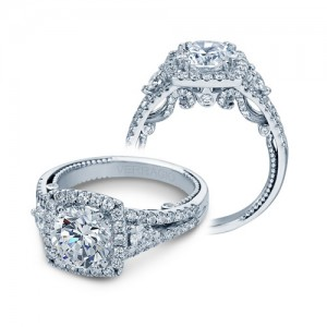 Verragio Insignia-7068CUL Platinum Engagement Ring