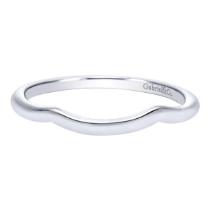 Gabriel 14 Karat Contemporary Wedding Band WB10077W4JJJ