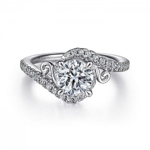 Gabriel 14 Karat Round Diamond Engagement Ring ER15609R4W44JJ