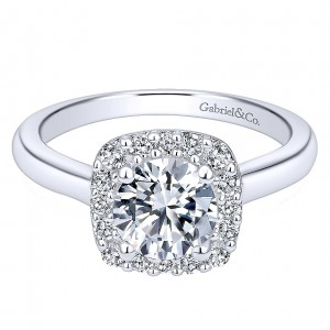 Gabriel - Miley 14 Karat Round Halo Engagement Ring ER6873W44JJ