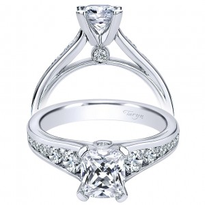 Taryn 14k White Gold Cushion Cut Straight Engagement Ring TE8867W44JJ