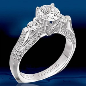 Verragio Platinum Euro Engagement Ring ENG-8048