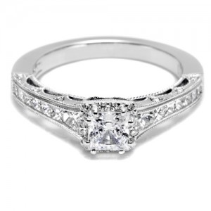Tacori Crescent Platinum Engagement Ring HT2515PR4512X