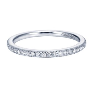 Gabriel 14 Karat Contemporary Wedding Band WB7266W44JJ