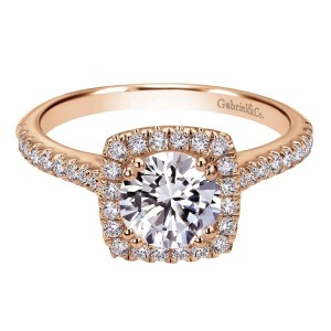 Gabriel 14 Karat Contemporary Engagement Ring ER8152K44JJ