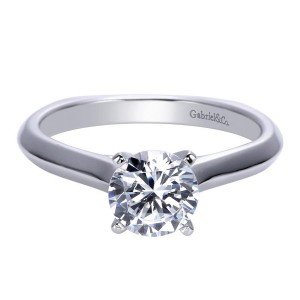 Gabriel 14 Karat Contemporary Engagement Ring ER8177W4JJJ