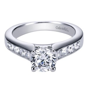 Gabriel 14 Karat Contemporary Engagement Ring ER3962W44JJ