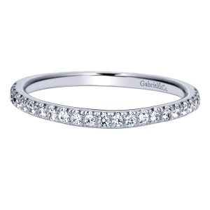 Gabriel 14 Karat Contemporary Wedding Band WB8504W44JJ