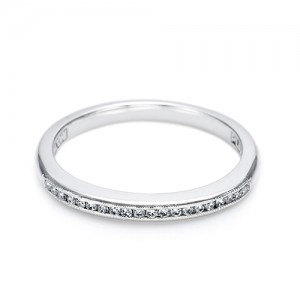 Tacori 18 Karat Simply Tacori Wedding Band 2521 CH