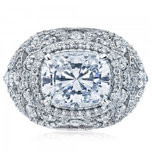 Tacori HT2612CU10X8 18 Karat RoyalT Engagement Ring