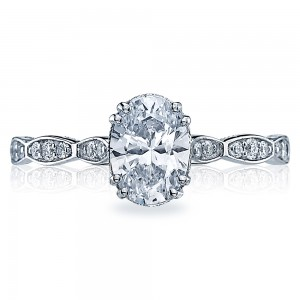57-2OV75X55 Platinum Tacori Sculpted Crescent Engagement Ring
