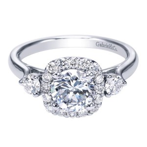 Gabriel 14 Karat Contemporary Engagement Ring ER7510W44JJ