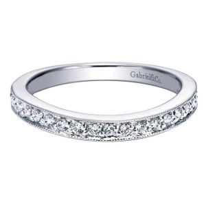 Gabriel 14 Karat Contemporary Wedding Band WB4072W44JJ