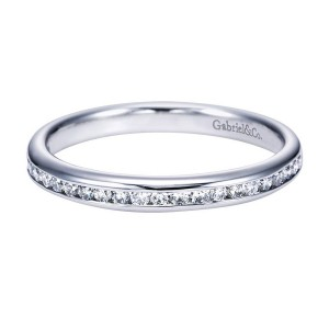 Gabriel 14 Karat Contemporary Wedding Band WB7229W44JJ