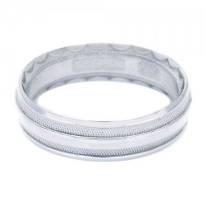Tacori 766W Platinum Crescent Wedding Band
