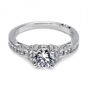 Tacori Platinum Simply Tacori Engagement Ring 2609RD6