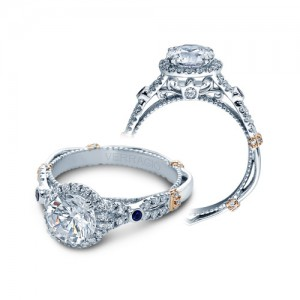 Verragio Parisian-CL-DL109R Platinum Engagement Ring
