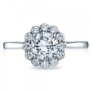 55-2RD65 Platinum Tacori Full Bloom Engagement Ring