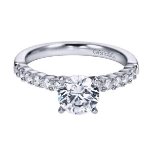 Gabriel 14 Karat Contemporary Engagement Ring ER6874W44JJ