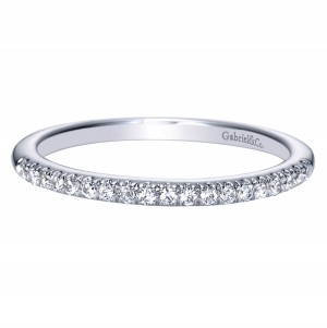 Gabriel 14 Karat Contemporary Wedding Band WB8565W44JJ