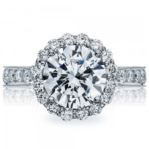 HT2605RD95 Platinum Tacori RoyalT Engagement Ring